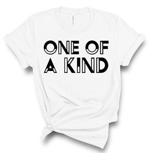 One of a Kind Unisex White Tee